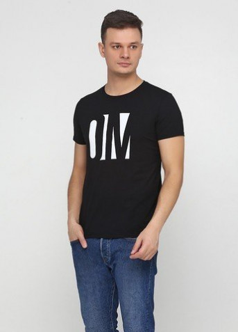 "Футболка ""Only Man"" (95-TSH-3-02-black/big-white-front)"